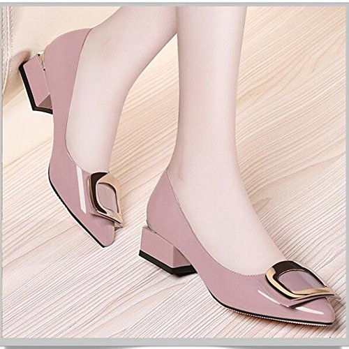 Sandals Women's Shoes Spring Summer Comfort Wedding Shoes Flat Heel point Toe 3cm (0.99 in) Stylish/comfortable (Color : Black, Size : EU39/UK6/CN39) Pink