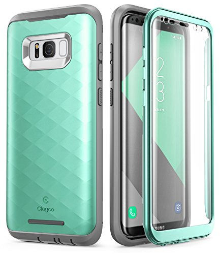 Galaxy S8+ Plus Case, Clayco [Hera Series] Full-body Rugged Case with Built-in Screen Protector for Samsung Galaxy S8+ Plus (2017 Release) (MintGreen)