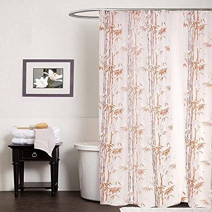 CASA FURNISHING PVC Plastic Shower Bathroom Curtain with 8 Hooks; 54x78 inches; 4.5x7 Feet