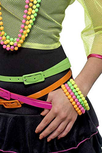 Multi-Colored Beaded Bracelets for 80s Costume