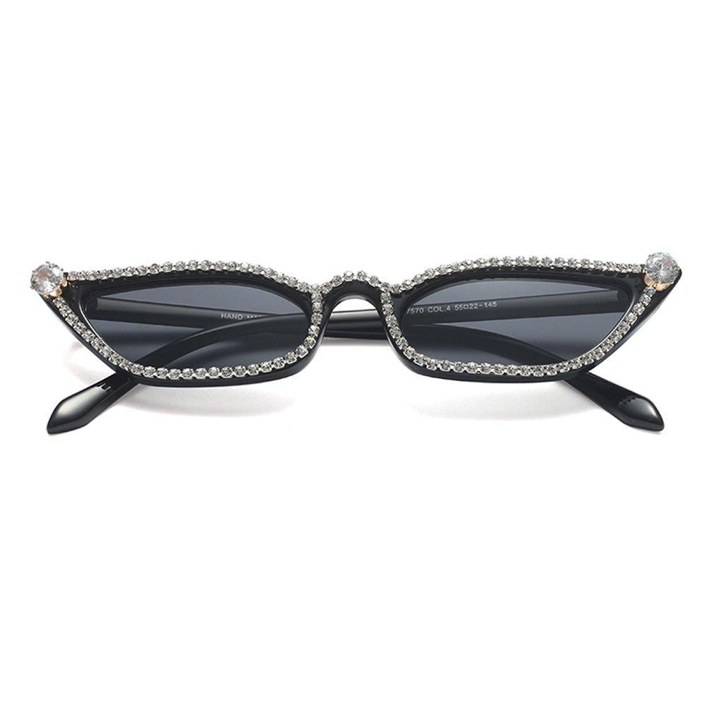 Amazon.com: Rhinestone anteojos de sol ojo de gato mujer ...