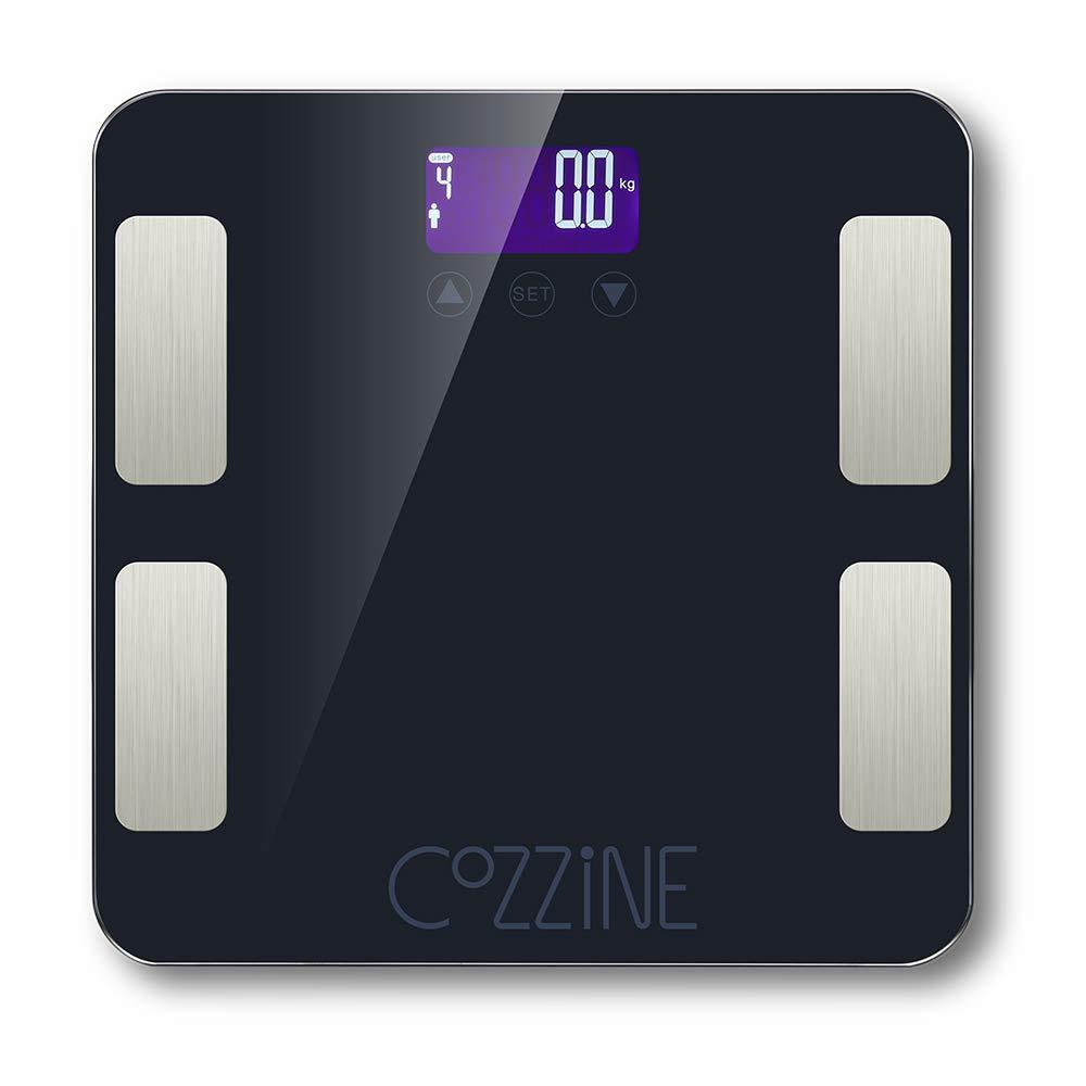 Cozzine Bluetooth FG830LB Body Fat Scale, Smart BMI Scale Digital Bathroom Wireless Weight Scale, Body Composition Analyzer with Smartphone App