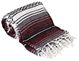 Canyon Creek Mexican Style Falsa Yoga Blanket (Burgundy)