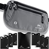 Alpine Rivers Money Belt - RFID Blocking Hidden Travel Wallet + 7 Bonus Sleeves … (Deluxe Graphite)
