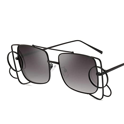 7d8b4c68d3 MINCL Oversized Sunglasses Women 2019 Brand Designer Luxury Metal Frame Square  sunglasses Vintage shades (