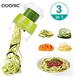 Handheld Spiralizer Vegetable Slicer, Adoric 3 in 1 Heavy Duty Veggie...