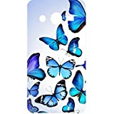 Casotec Flying Butterfly Colorful Design Hard Back Case Cover for Samsung Galaxy Core 2 G355H