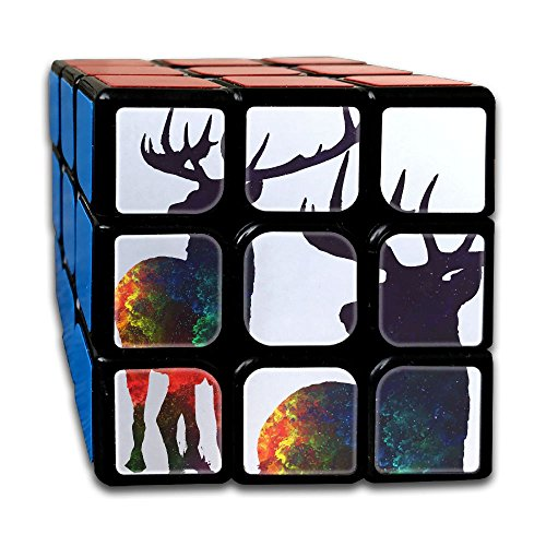 Sun Spot Deer 3x3x3 Speed Cube Carbon Fiber Sticker Smooth Magic Cube - Sunspot Hours