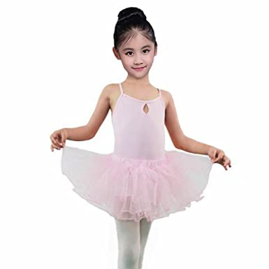 ac180ecb4 Amazon.com  Lywey Children For Dance Dress Dresses Ruffle Bodysuit ...