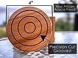 Artisan 6 Piece Round Acacia Wood Coaster Sets