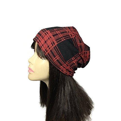 Amazon.com  Red and Black Plaid Hat Black and Red Lumberjack Hat Buffalo  Plaid Slouchy Hat Men s Lumberjack Hats Custom Size and Custom Lined Hats   Handmade b3c465e88d8