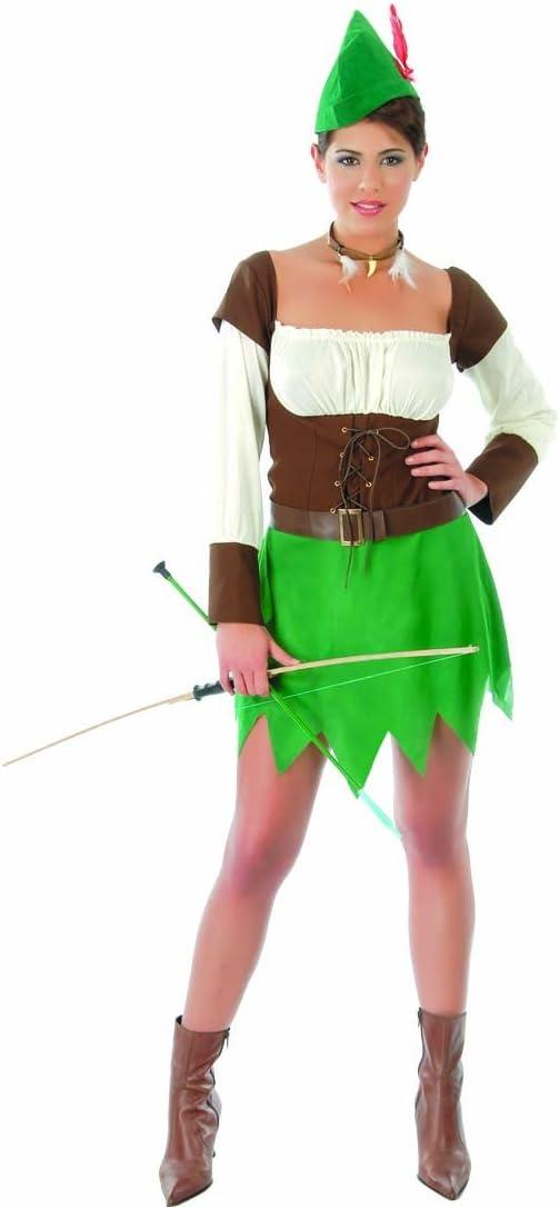 Atuendo medieval mujer de los bosques Disfraz arquera L 42/44 ...