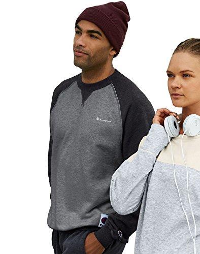 Champion MenG€s Retro Graphic Sweatshirt S7954, XL, Granite Heather/Black