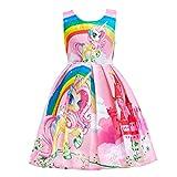 Dressy Daisy Girls My Little Pony Dress Costumes Unicorn Costumes Fancy Dress up Size 5 Pink FC127