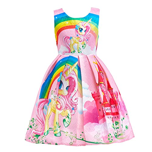 Dressy Daisy Girls Dress Costumes Unicorn Costumes Fancy Dress up Size 6X Pink FC127]()