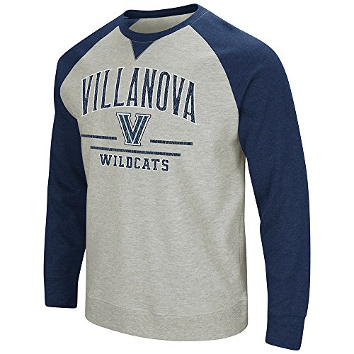 Colosseum Men's Villanova University Wildcats Turf Fleece Crewneck Sweatshirt, S ()