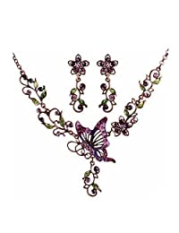 Coromose Fashion Crystal Bridal Jewelry Sets Necklace+Earrings Jewelry Wedding