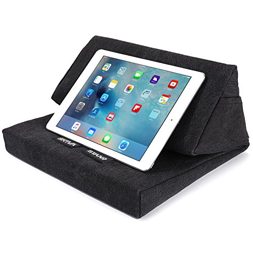 SKIVA EasyStand Pad Pillow Stand for iPad Pro Air Mini, Samsung Galaxy Tab Note 10.1, Google Nexus 7, Microsoft Surface Pro, Tablets, E-Readers (Black) [Model:ES101] - Seven Stand Floor Magazine Pocket