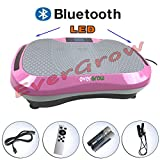 EVERGROW Pink 120 Levels Bluetooth Machine Whole Full Body Shape Exercise Machine Vibration Plate Fit Massage Workout Trainer Vibration Platform Machine