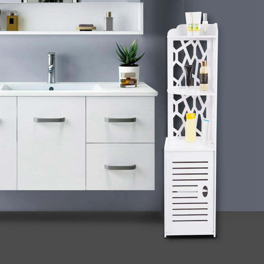 Floor Cabinet Hollow Out Slim Bathroom Cabinets Tall Bathroom Corner Cabinet Free Standing Bathroom Cupboard Waterproof