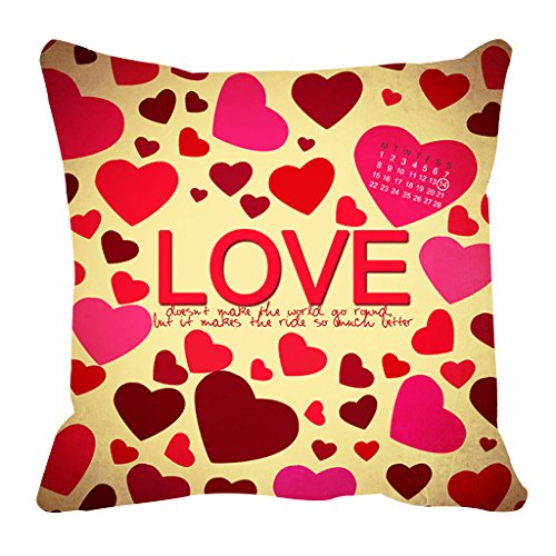 Love in Air  printed Cushion by Aart Store.