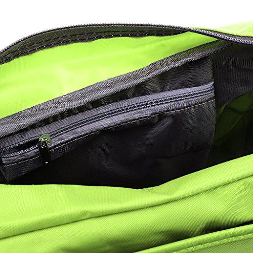 Generic Portatile Impermeabile Borsa A Tracolla Sacchetto per Viaggio Esercizio Bagaglio Shopping Casuale verde
