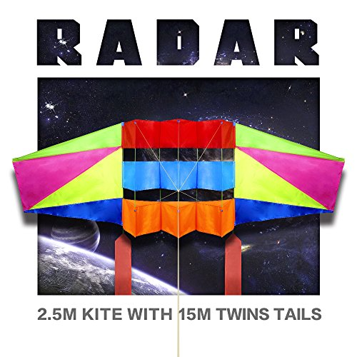 Large Rainbow Kite for Adults & Kids with Long Tail,Super Easy Flyer 3D Kites for the Beach Park,Come with 49 Feet Tails x 2 and Kite String & Handle