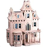 NEW The Beacon Hill Wood Dollhouse Kit Victorian Heirloom 7 Rooms 2 Hallways