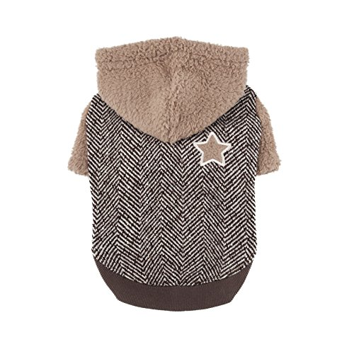 Puppia Authentic Polaris Hoodie, Medium, Brown by Puppia
