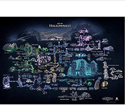 yhnjikl Hollow Knight Mapa De Hallownest Arte Decoración de la ...