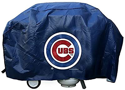 Chicago Cubs Grill Cover Deluxe - Licensed MLB Baseball Gift by Sports Collectibles