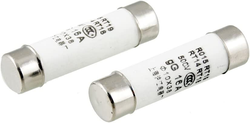 RT18 RT14 R015 10x38mm Ceramic Fuse Links 500V 16A 5 Pieces