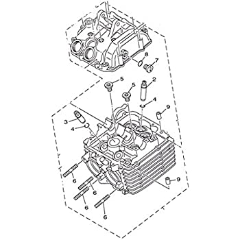 Amazon Com Yamaha 5km111010100 Cylinder Head Assembly Automotive