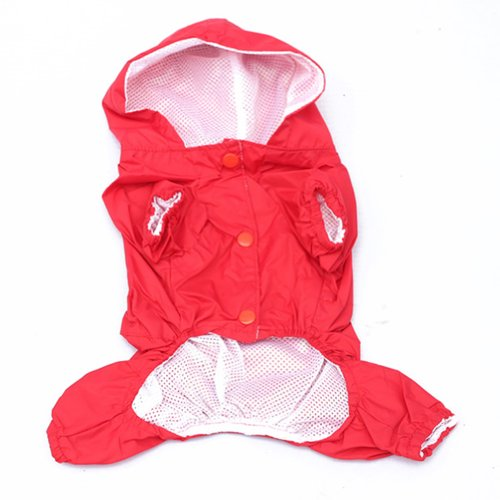 Urparcel Pet Dog Raincoat Apparel Puppy Waterproof Jacket Red S