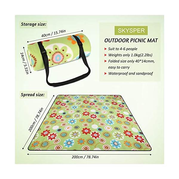 51uIRMnIbYL SKYSPER Picknickdecke isoliert Picknickmatte Stranddecke Wasserdicht Campingdecke Picnic Blanket Fleece Faltbare…