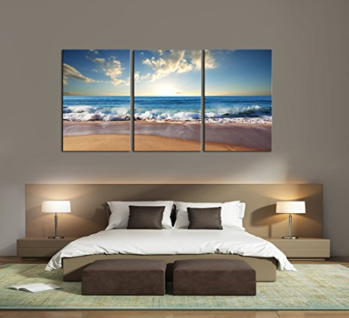 Cao Gen Decor Art-AS30146 3 panels Framed Wall Art Waves Painting on Canvas