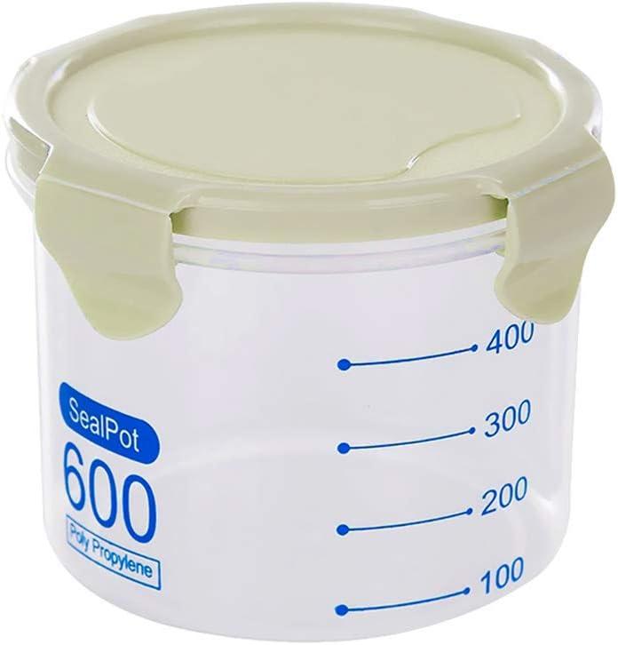 Doitsa 1 x Tarro, Caja apilable (plástico con Tapa hermética Transparente, 600 ml, 800 ml, 1000 ml, 1500 ml, PP, Verde, S-600ml: Amazon.es: Hogar