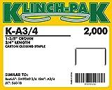 3/4'' Klinch-Pak Stick Staples (10 Boxes Per Case) - AXXIS-K-A-3/4