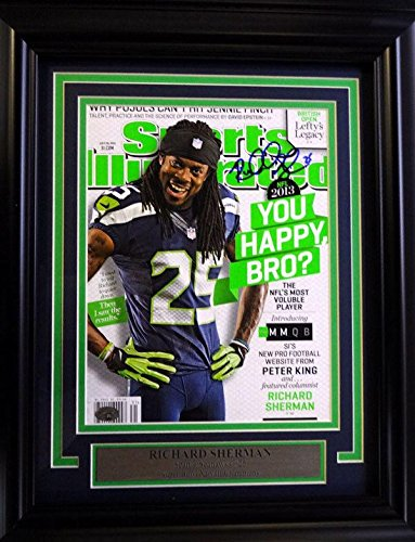 Richard Sherman Autographed Signed Seahawks Framed Sports Illustrated Rs 90590 Autographed NFL Magazines