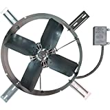 TPI Gable Exhaust Fan - 1300 CFM, Model# GV-405-2B