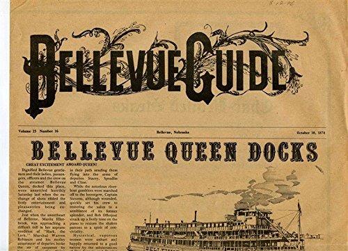 Bellevue Guide Bellevue Queen Riverboat Menu Nebraska 1970's - Queen Riverboat