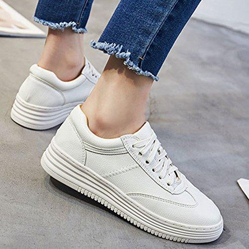 Hoxekle Femmes Mode Sneaker Respirant Supérieur Lacent Chaussures Occasionnels