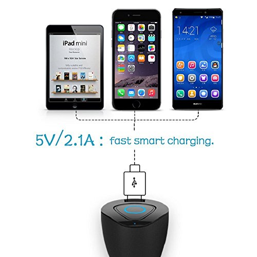 bluetooth earbuds car charger v4 1 bluetooth headphones with usb car charger charger adapter. Black Bedroom Furniture Sets. Home Design Ideas
