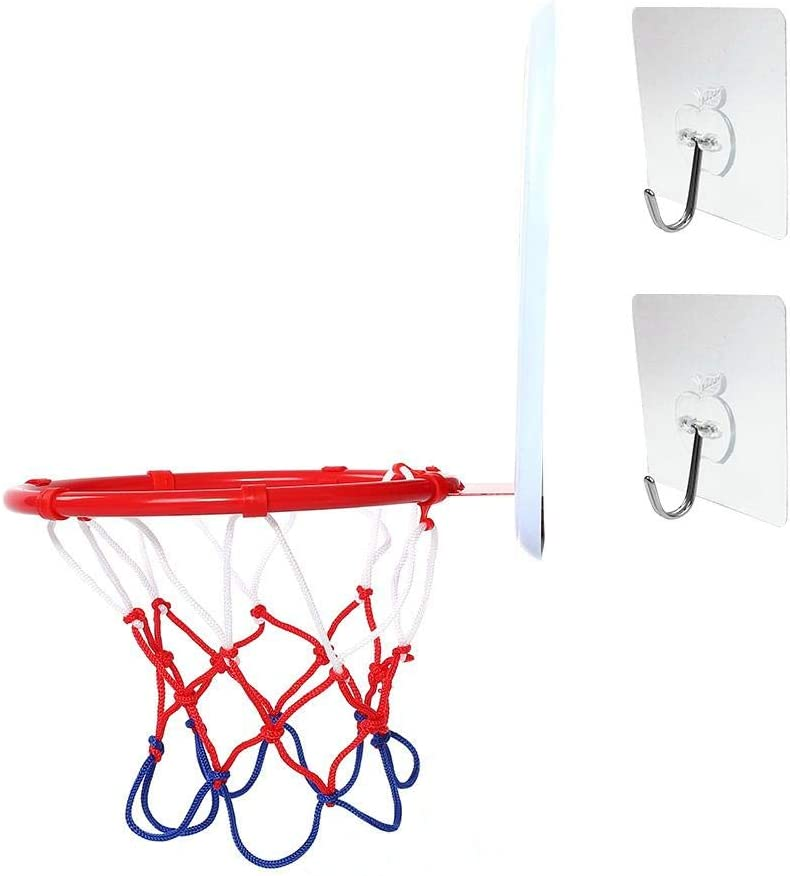 Dilwe Mini Juego de Baloncesto Ajustable Aro Montado en Pared Juguete de Baloncesto con Bomba de Suspensi/ón Instalaci/ón de Accesorios