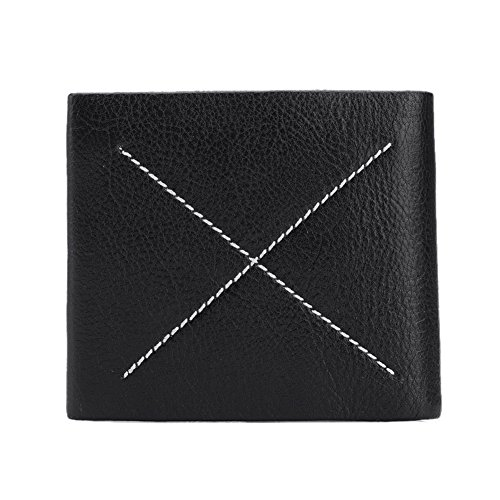 Brown Trifold Clutch Stylish Leather Wallet Cross Purse Holder Men Card Bininbox Credit Black AfPWcTT