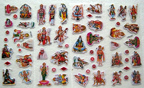 set-of-40-hindu-religious-stickers-ganesha-maa-lakshmi-durga-saraswati-vishnu