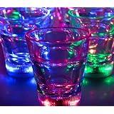 Light Up Multicolor LED Shot Glass Lite Cubes(Quantity=3) by LiteCubes