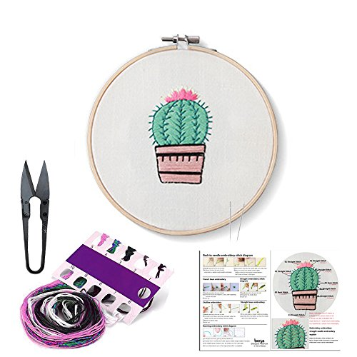 Full Set of Handmade Embroidery Starter Kit with Partten Cro