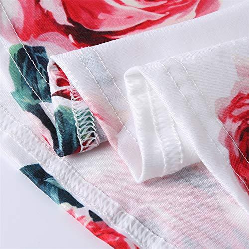 Con Felz Playa Para Sin Rojo04 La Leopardo Vestidos Mangas Estampado Mujer vestido Mujer Camiseta Verano Fiesta En De Mujer vrvxqSZwA