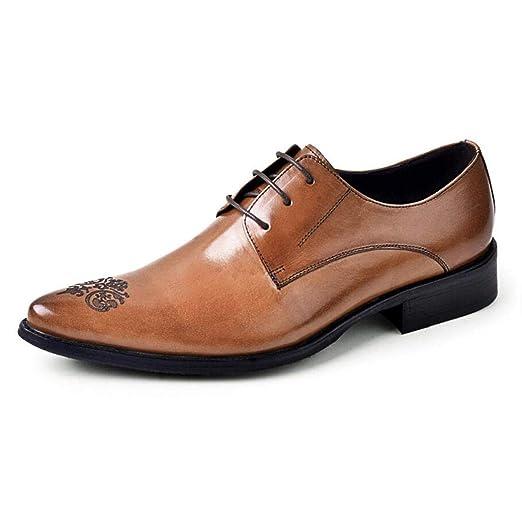 ZIXUAP - Zapatos de Vestir para Hombre (Piel, tallados en ...